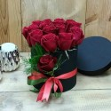 15 Red Roses in Round Box