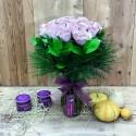 20 Red Roses in Glass Vase