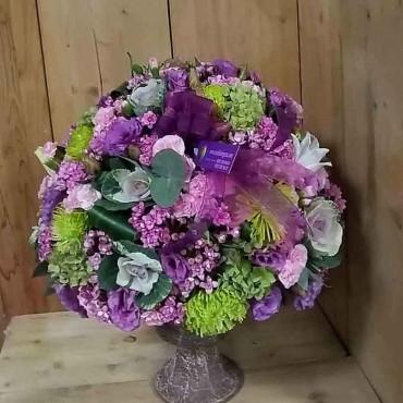Purple Lisiantus Green Chrysanthemum